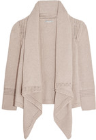 Autumn Cashmere Draped open-knit cotton cardigan