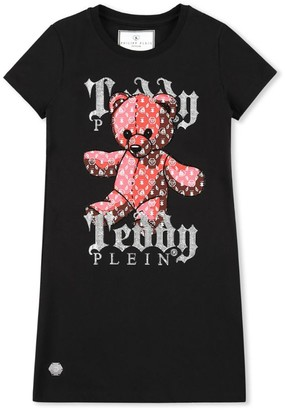 Philipp Plein Junior Teddy Bear T-Shirt Dress (4-16 Years)