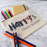 The Alphabet Gift Shop Personalised Travel Buddies Pencil Case And Notebook