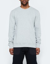Reigning Champ LS Crewneck - Lightweight Terry in Heather Grey