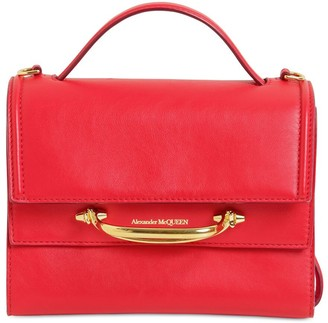 Alexander McQueen THE STORY BICOLOR LEATHER SHOULDER BAG