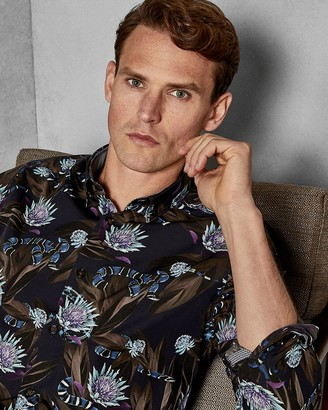 Ted Baker Snake Print Cotton Shirt