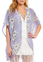 Gianni Bini Birdie Floral Print Kimono