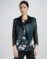 DKNY Colorblocked Moto Jacket