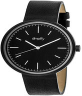 Simplify Unisex Black Strap Watch-Sim3001