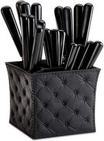 Q Squared Provence Noir 20-Pc. Flatware Set with Caddy