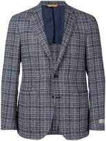 Canali checked blazer jacket