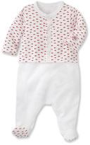 Petit Bateau Baby boy crawler and cardigan set