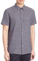 Vince Striped Short Sleeve Shirt