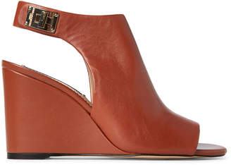 Karl Lagerfeld Paris Sienna Rowa Wedge Leather Sandals