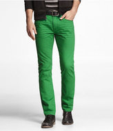 Express Rocco Colored Slim Fit Skinny Leg Jean-Julep Green