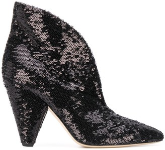 P.A.R.O.S.H. Sequinned Ankle Boots