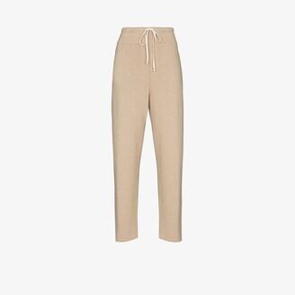 LES TIEN Cashmere Drawstring Track Pants