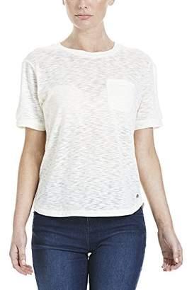 Bench Women's SLUB TEE T-Shirt, (White CR003X), (Size: S)