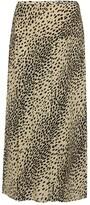 Thumbnail for your product : Rixo Nancy animal-print silk midi skirt