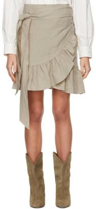 Etoile Isabel Marant Beige Tempster Miniskirt
