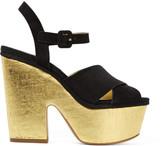 Michael Kors Hilary suede and metallic cork platform sandals