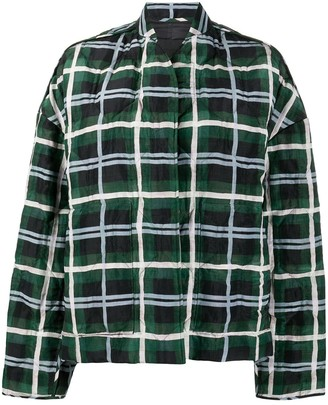 Christian Wijnants Quilted Plaid Check Jacket