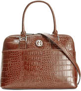 Giani Bernini Croc-Embossed Dome Satchel, Created for Macy's