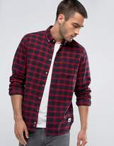 Penfield Corey Check Shirt Buttondown Flannel Regular Fit in Red