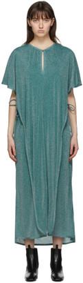 Lanvin Blue Metallic Long Dress