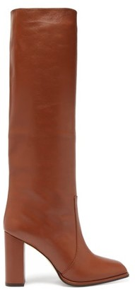 Paris Texas Knee-high Leather Boots - Tan