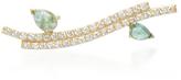 Paige Novick 18K Yellow Gold Diamond and Emerald Ear Cuff