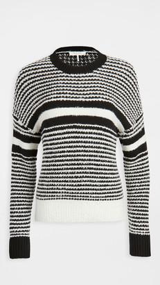 Rag & Bone/JEAN Teddy Striped Crew Sweater