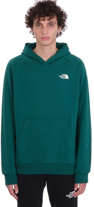 The North Face Reglan Red Box Sweatshirt In Green Cotton