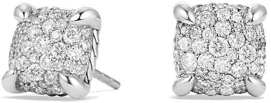 David Yurman Ch'telaine Earrings with Diamonds in Sterling Silver