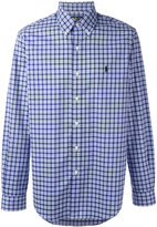 Polo Ralph Lauren checked logo shirt - men - Cotton - XL
