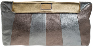 Dolce & Gabbana Metallic Tricolor Leather Clutch