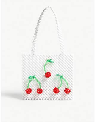 Susan Alexandra Ma Cherie cherry beaded tote