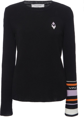 Valentino Logo-Detailed Wool Cashmere Sweater