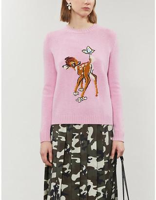 Miu Miu X Disney Bambi-intarsia wool jumper