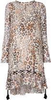 Chloé ruffled tassel dress - women - Silk/Cotton/Linen/Flax - 40