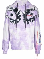 Thumbnail for your product : Charles Jeffrey Loverboy Logo-Embroidered Tie-Dye Hoodie