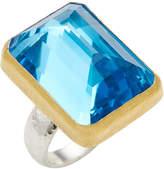 Gurhan Women's Galapagos Blue Topaz, Sterling Silver & 24K Yellow Gold Ring