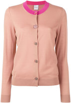 Paul Smith contrast neck cardigan - women - Silk/Wool - S