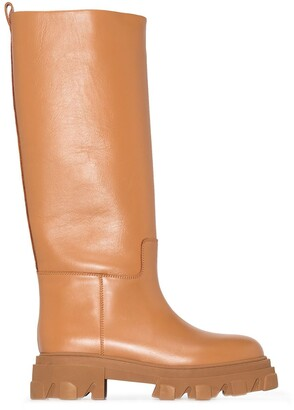 Gia Couture x Pernille Teisbaek 07 leather knee-high boots