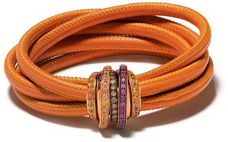 de Grisogono 18kt Rose Gold, Diamond And Sapphire Coil Bracelet