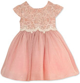 Rare Editions Baby Girls' Lace-Bodice Dress