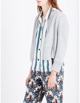 Burberry Oversized cropped knitted cardigan