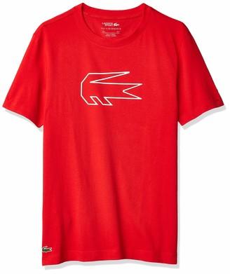 Lacoste Men's Sport Novak Djokovic Big Croc Technical Jersey Tee