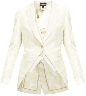 Ann Demeulemeester Floral-embellished Cotton Jacket - White