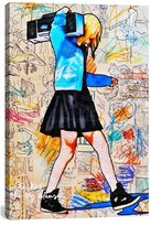 iCanvas 'I'Ll Be The Kid With The Big Plans - Annie Terrazzo' Giclee Print Canvas Art