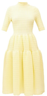 Cecilie Bahnsen Trude High-neck Tiered Dress - Womens - Yellow