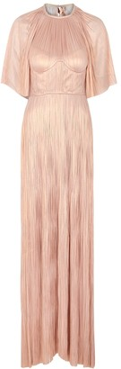Maria Lucia Hohan Candace Pink Silk-georgette Gown