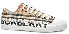 Burberry Women's Vintage Check Logo Low-Top Sneakers