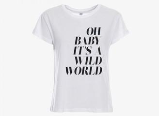 Gossengold - White Wild World T Shirt - s